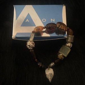 Avon 2008 Beaded Chic Bracelet Nature Earth Tones